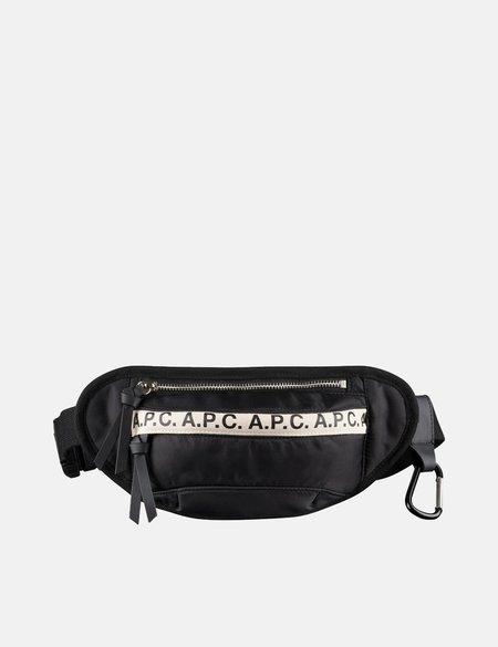 A.P.C. Mini Repeat Hip Bag - Black