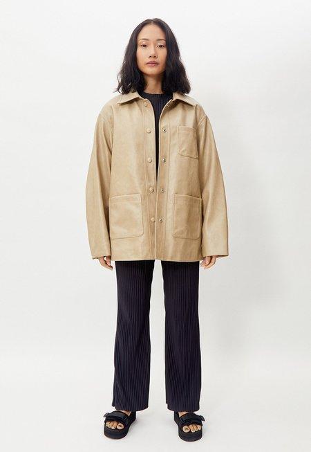 Another Vegan Leather Shirt Jacket