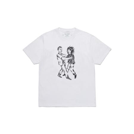 Wacko Maria Born x Raised Type-3 Crew Neck T-Shirt - White