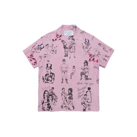 Wacko Maria Born x Raised Short Sleeve Hawaiian Shirt - Pink