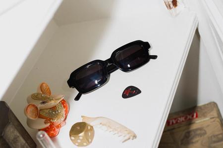 Crap Eyewear Lucid Blur Sunglasses - Black Bio / Polarized Grey