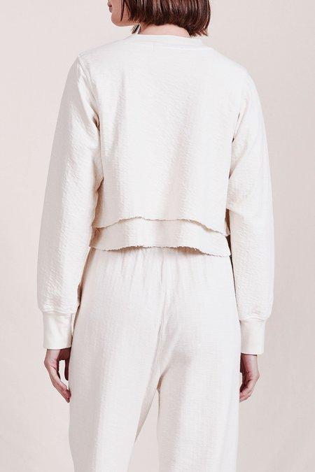 Apiece Apart Athena Tiered Sweatshirt - Cream