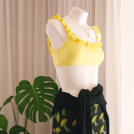 DENiZERi Namoda Ruffle Bikini Top - Lemon
