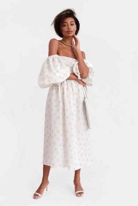 Sleeper Atlanta Linen Dress - Daisies