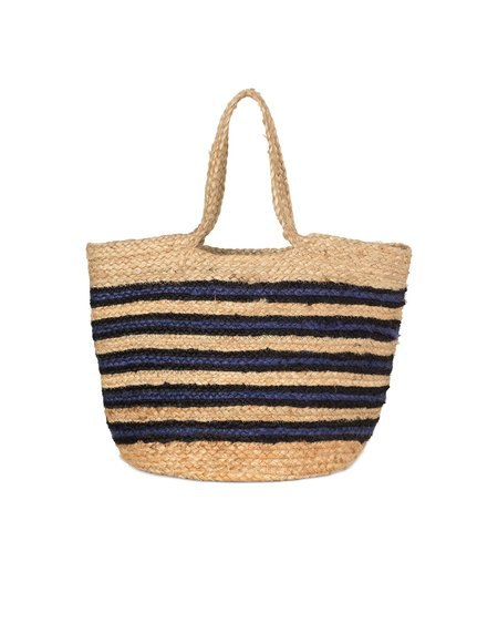 Samsøe & Samsøe Bolsa Beach Bag - Natural/Blue
