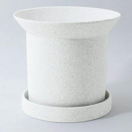 Angus & Celeste Sandstone Plant Pot Large - White