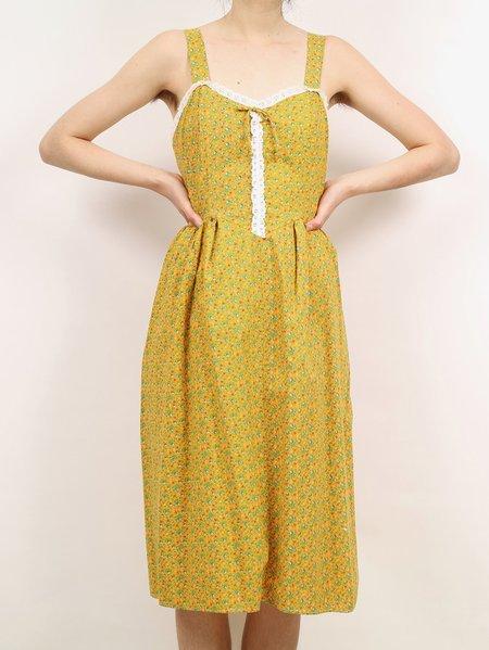 Vintage 70s sears dress - yellow