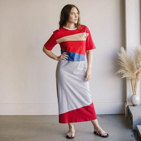 Carleen String Pieced T-Shirt Dress