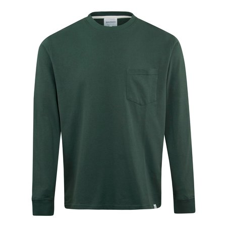 Norse Projects Johannes Pocket LS T-Shirt - Forest