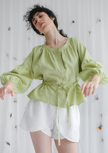 OhSevenDays Kyoto Blouse - Pear
