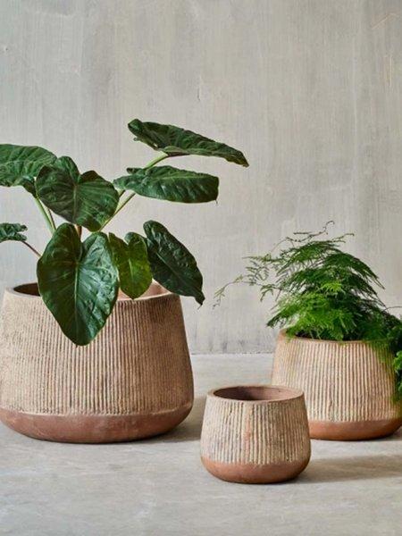 Nkuku Small Wampu Wide Planter - Terracotta