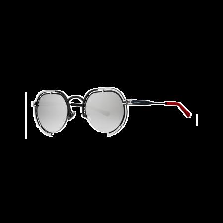 Unisex VYSEN Eyewear Panache Black and Silver Frame P-5 Sunglasses