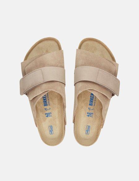 Birkenstock Kyoto Nubuck Regular Soft Footbed Sandal - Biege