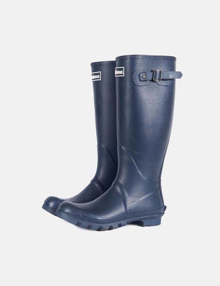 Barbour Bede Wellington Boots - Navy Blue
