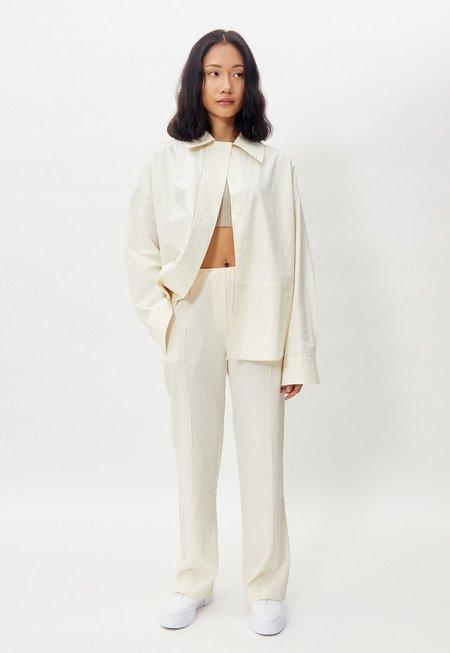 Another Wide Collar Overshirt - Cream