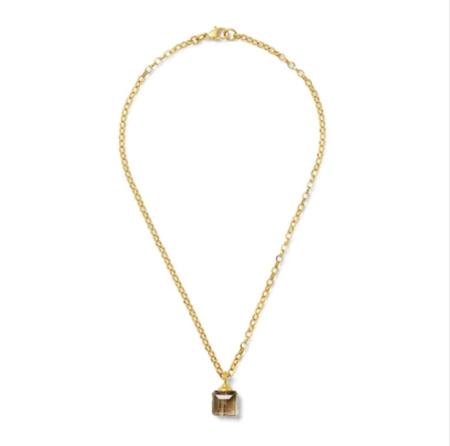 CC & Co Chiclet Amethyst Pendant necklace - Gold