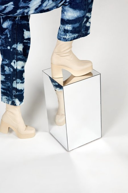 """INTENTIONALLY __________."" Marlowe Vegan Boots - Cream"