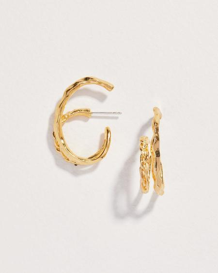 Pamela Love Braided Double Hoop - Gold