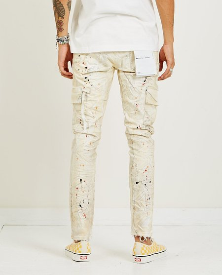 PURPLE P002 Dropped Fit White Dirty Cargo - Off White