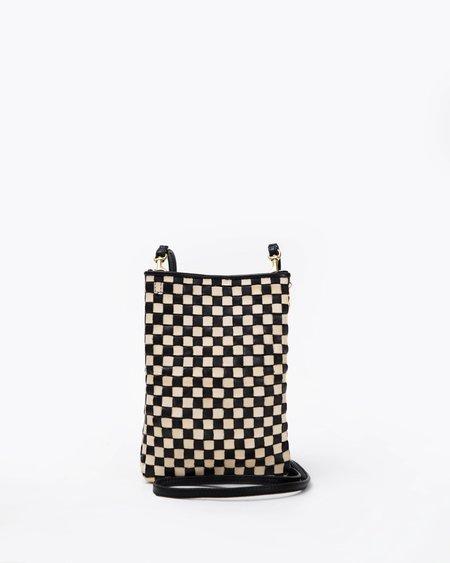 Clare V. PocheBag - Black/Cream Checker