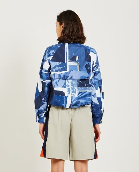 Kenzo Tropic Camo high-neck windbreaker - Blue