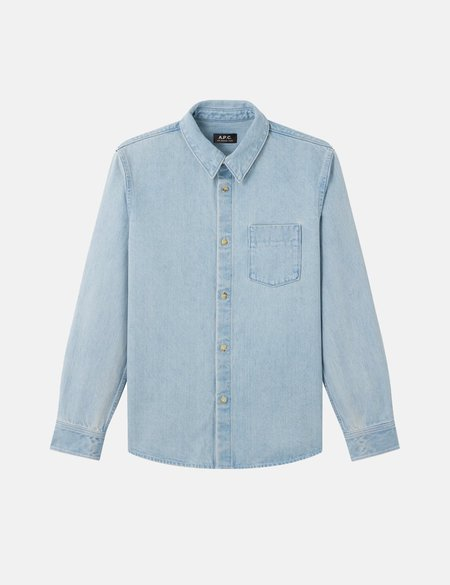 A.P.C. Victor Denim Overshirt - Bleached Out