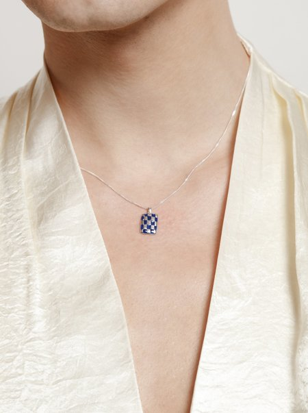 Wolf Circus Penny Necklace - Silver/Navy