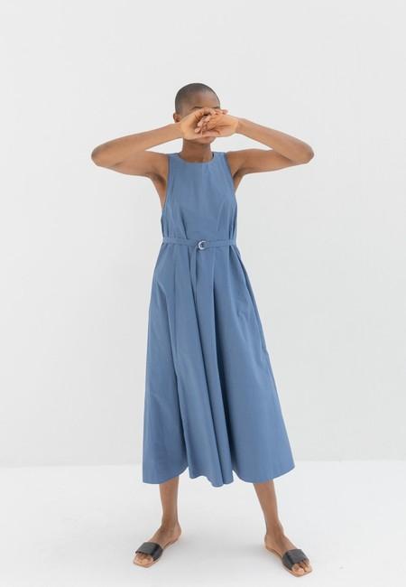 SAYAKA DAVIS TIED BACK DRESS - BLUE