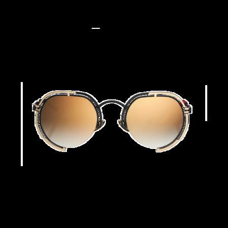 unisex VYSEN Eyewear Panache Frame P-3 sunglasses - Black/Gold