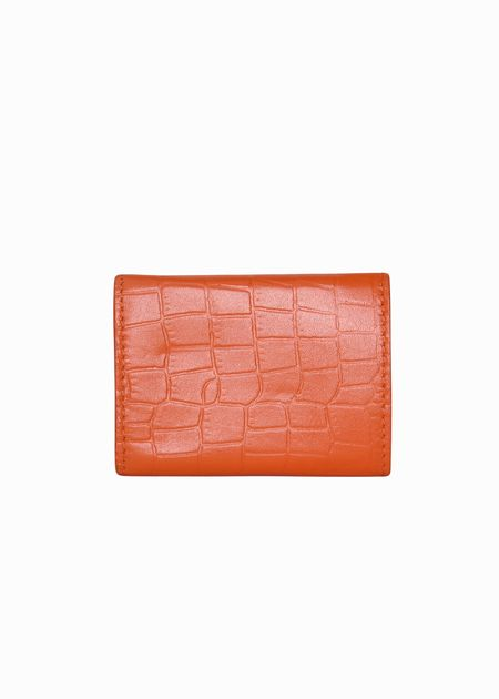 Mini tri wallet, flame croc