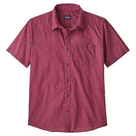 PATAGONIA Go To Shirt - Star Pink/Blue Prints Micro