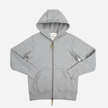 3Sixteen Heavyweight Zip Hoody - Grey
