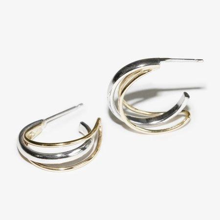 Skomer Studio Orbit hoop earrings - Gold/silver