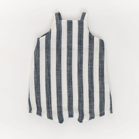 Kids Thimble Collection Knotted Shortall - Midnight Stripe