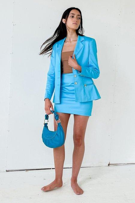 Vintage Mini Suit SKIRT -Aqua