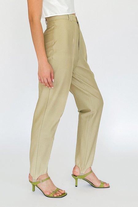 Vintage Stretch Stirrups pants - Champagne