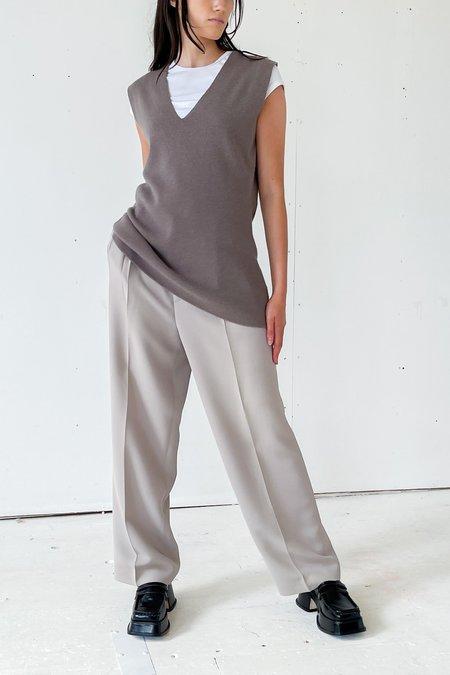 Vintage Dove Angora Sweater Vest - grey