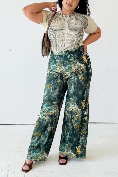 Vintage Marbled Wide Leg Pants - multi