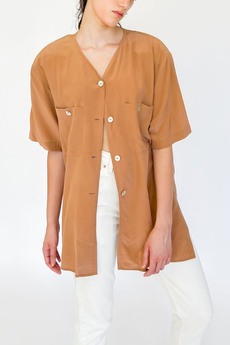 Vintage Silk Shirt - Terra Cotta