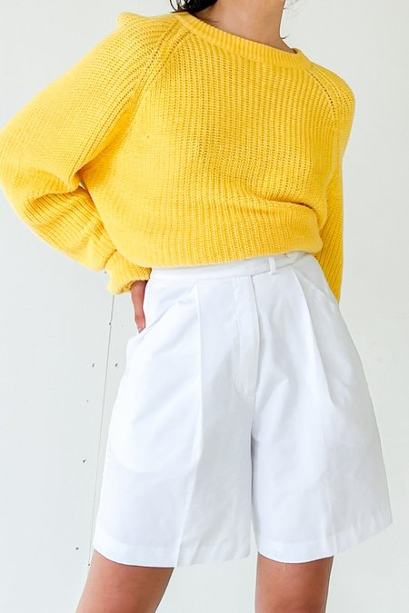 Vintage Pleated Trouser Shorts - White