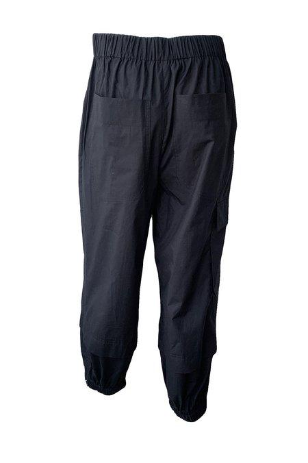 Tibi Vintage Cotton Pull On Jogger - Black