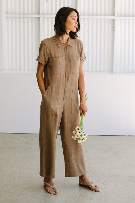 Rachel Pally Linen Joey Jumpsuit - brown