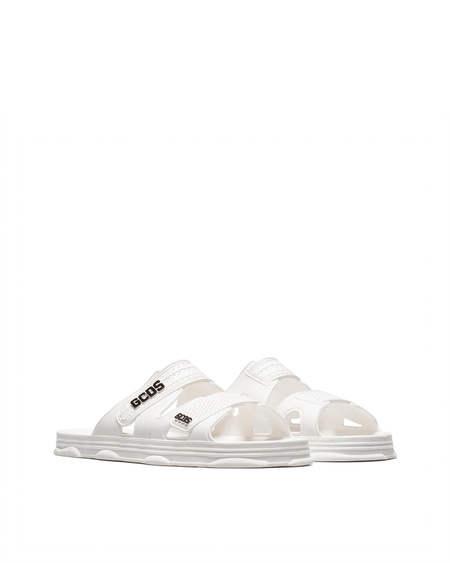 GCDS logo Sandals - White