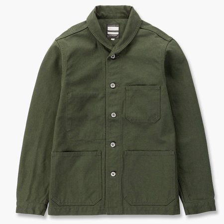 Momotaro Jeans Waterproof USN Coverall - Olive Drab