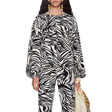 Stine Goya Dianne Structure Strtch Blouse - Zebra