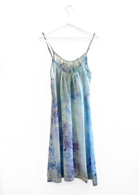 Peri the Label Ruched  Short Slip Dress - Blue
