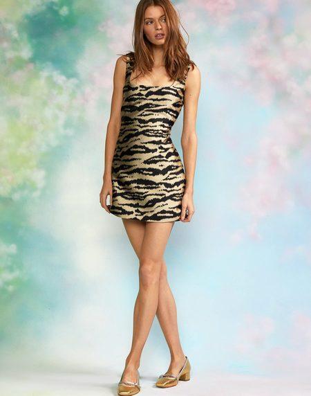 Cynthia Rowley Lilia Brocade Mini Dress - ZEBRA