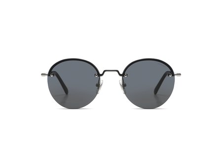 KOMONO Lenny Sunglasses - Silver Smoke