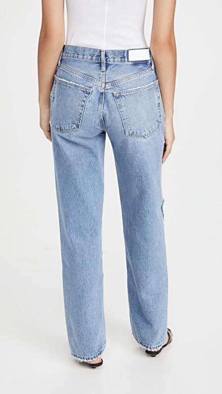 RE/DONE 90s Comfy Jean - Sunfaded Destroy