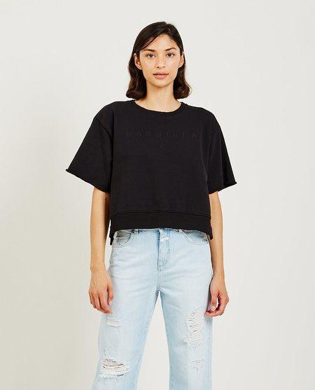 Maison Margiela short sleeved crew neck sweatshirt - Black